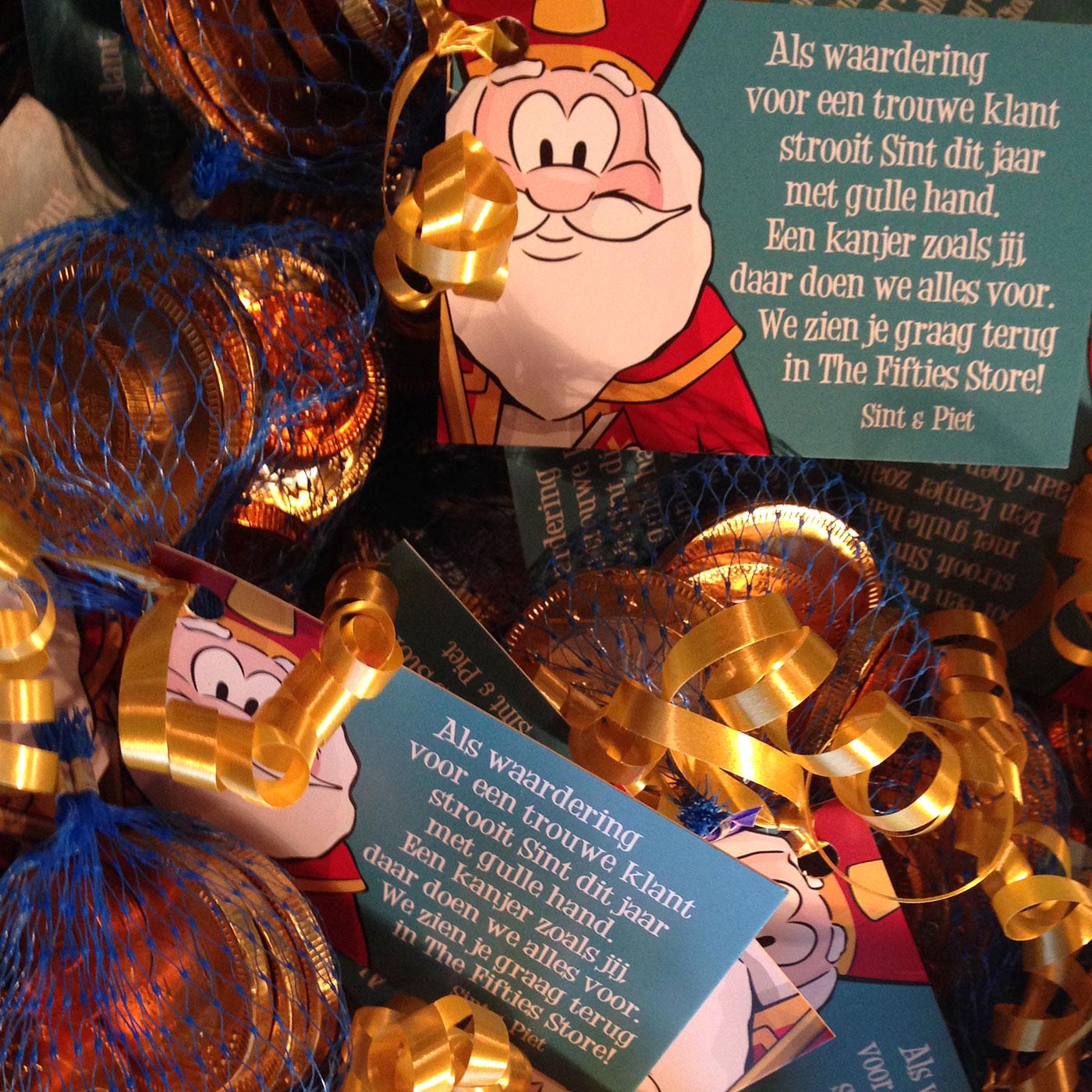 Sint Presentje bij de Fifties Store